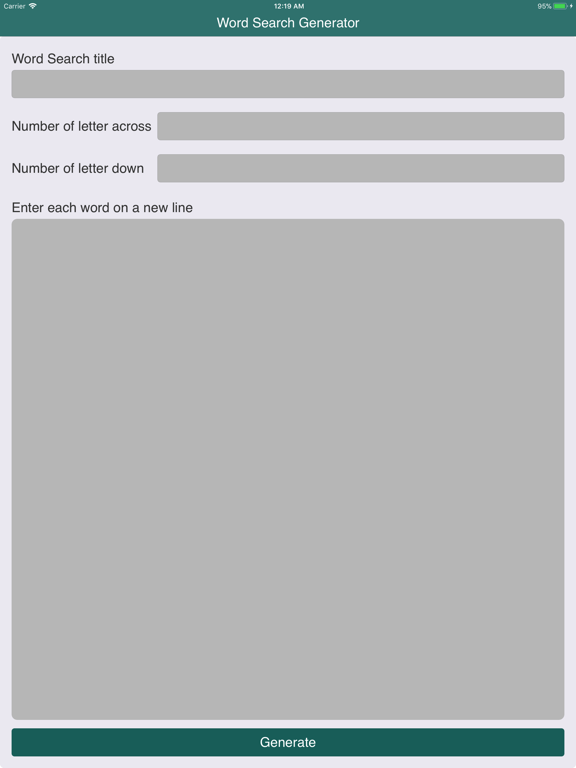 Word Search Puzzle Generator screenshot 7