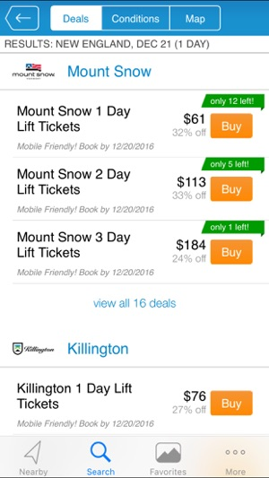 Liftopia Lift Tickets Screenshot