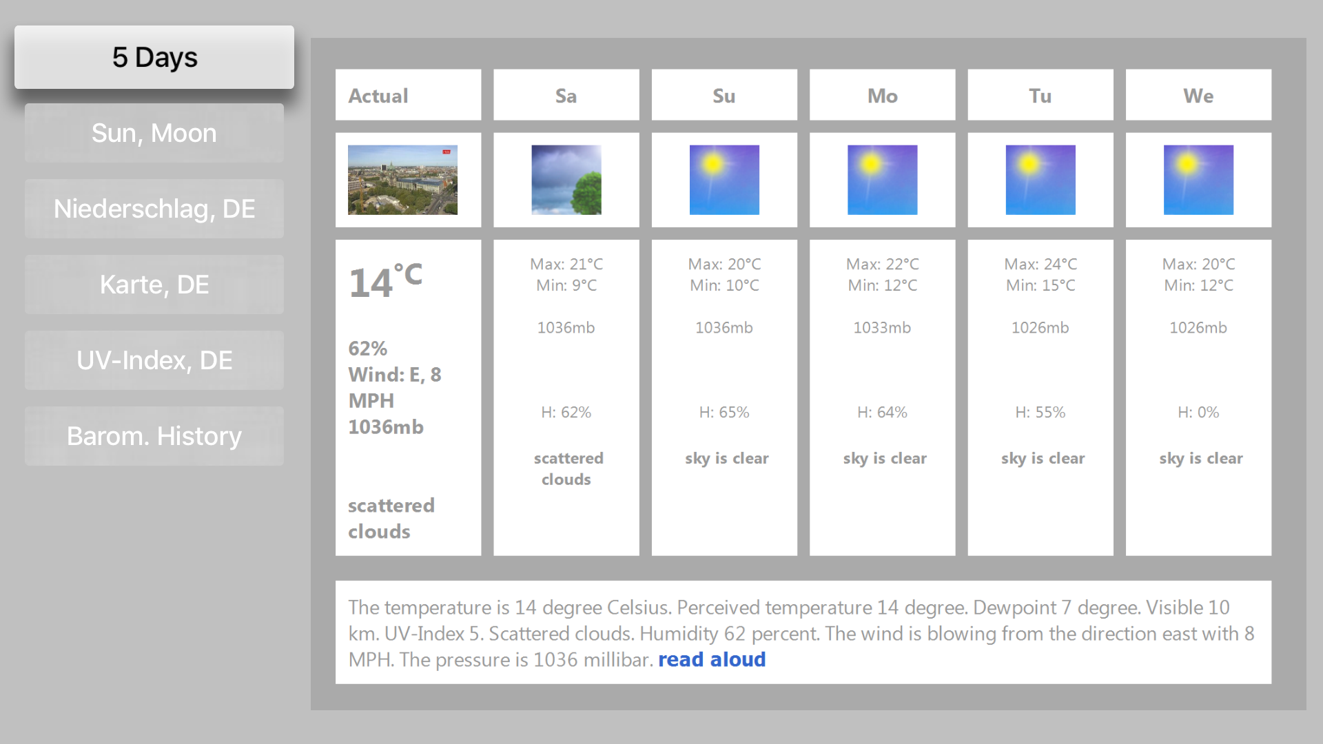 LCD Weather Barometer screenshot 3