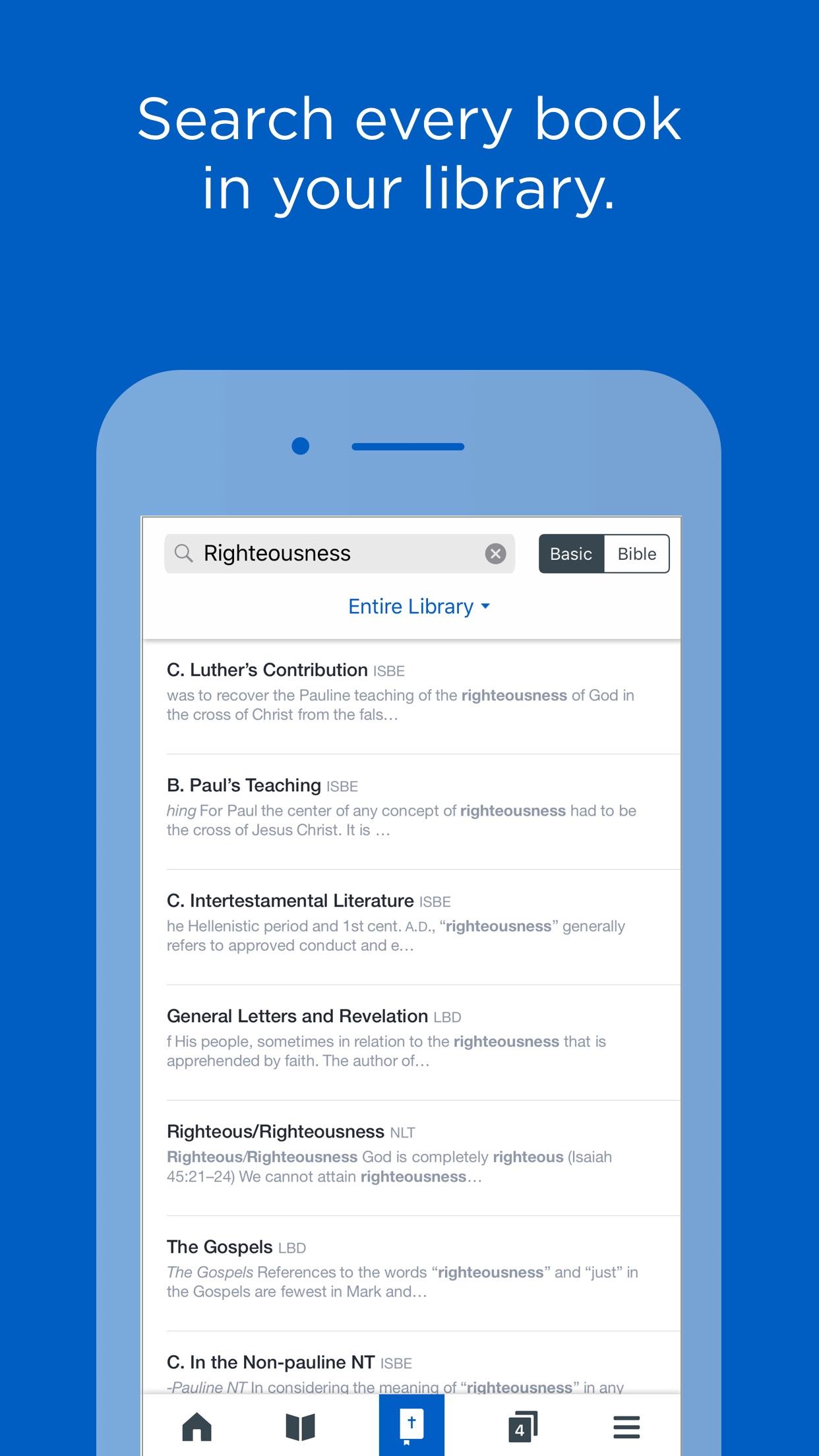 Logos: Bible study and reading Screenshot