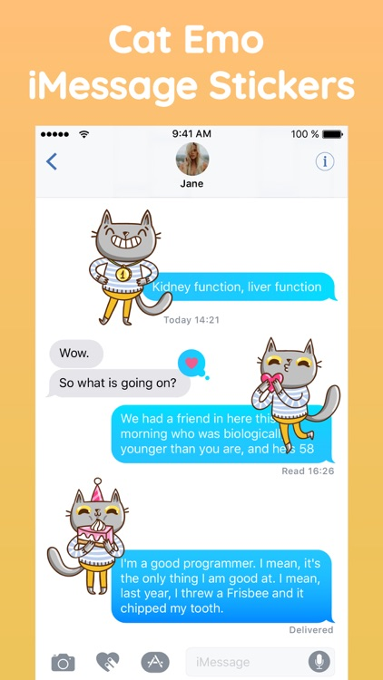 Cat Puns Text Sticker Pack App