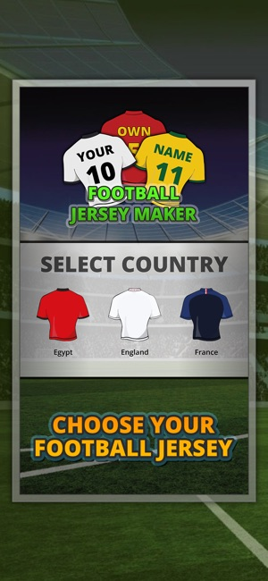 Football Jersey Maker 2018 On The App Store