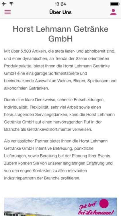 Horst Lehmann Getränke GmbH by AppYourself GmbH