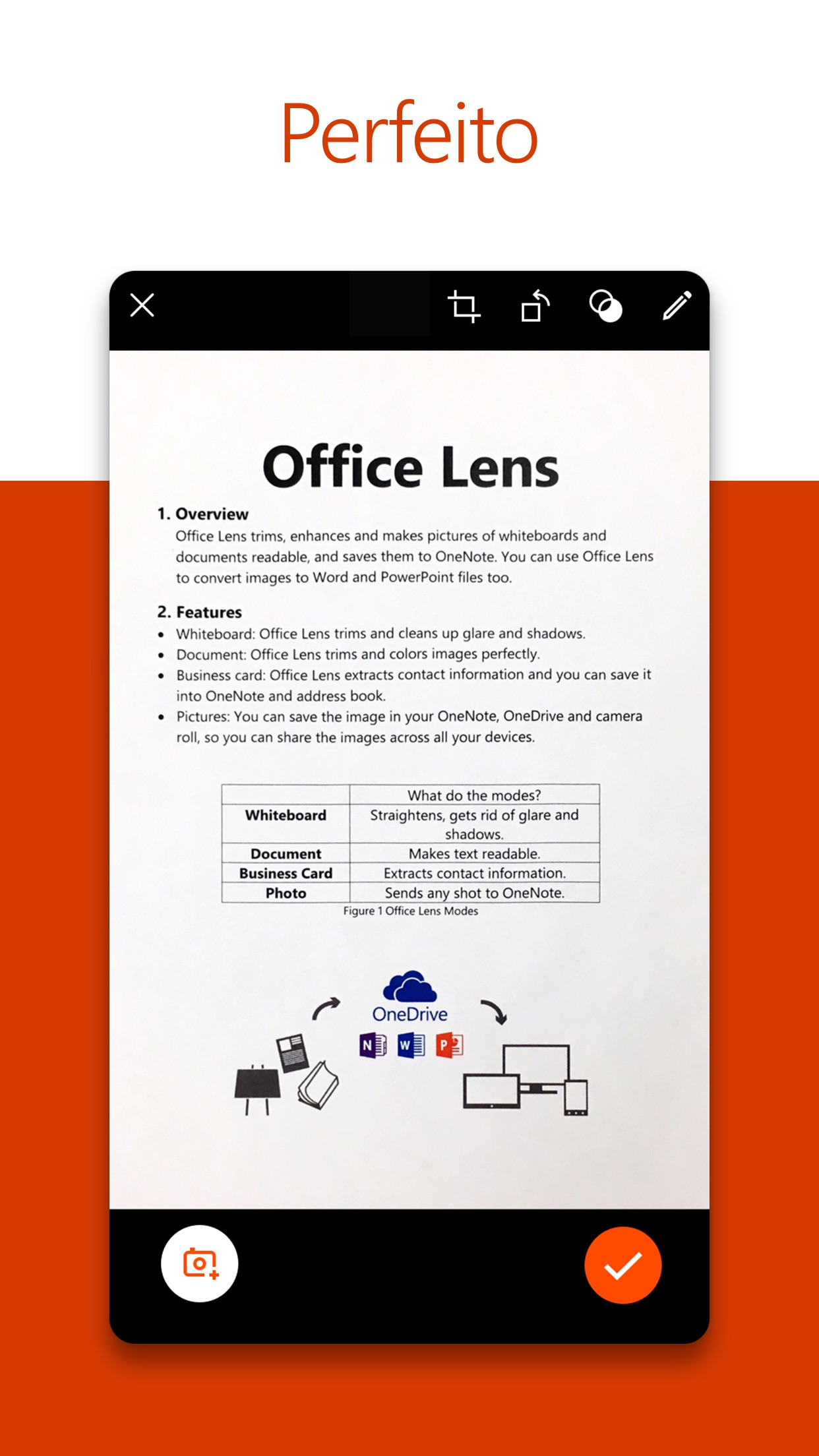 Screenshot do app Microsoft Office Lens|PDF Scan