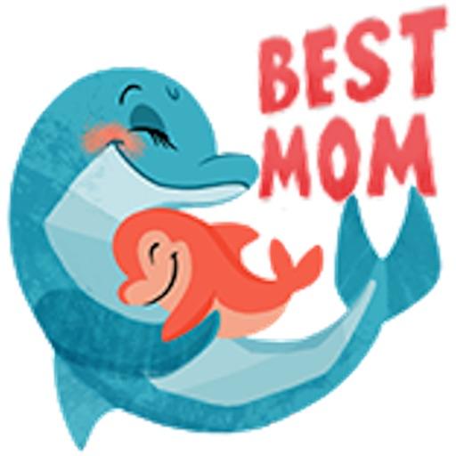 Mommy I Love You Animals Emoji
