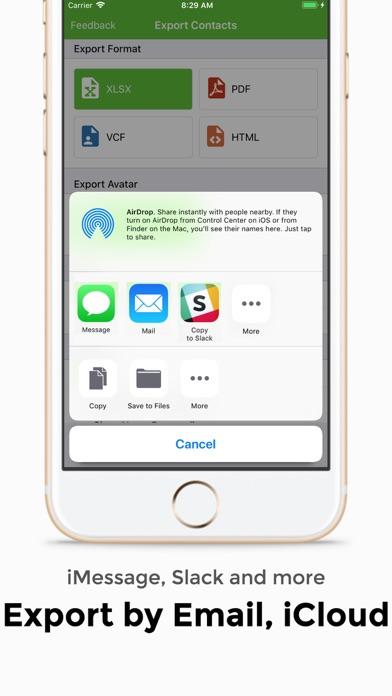 連絡先のエクスポート - 簡単なバックアップ ScreenShot2