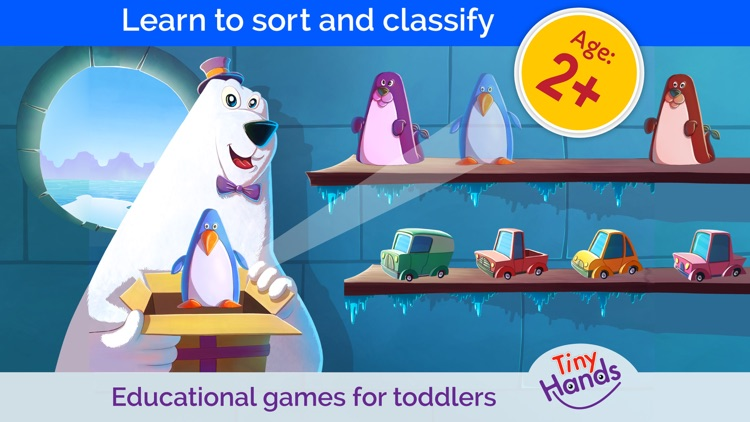 Game with puzzles for toddlers