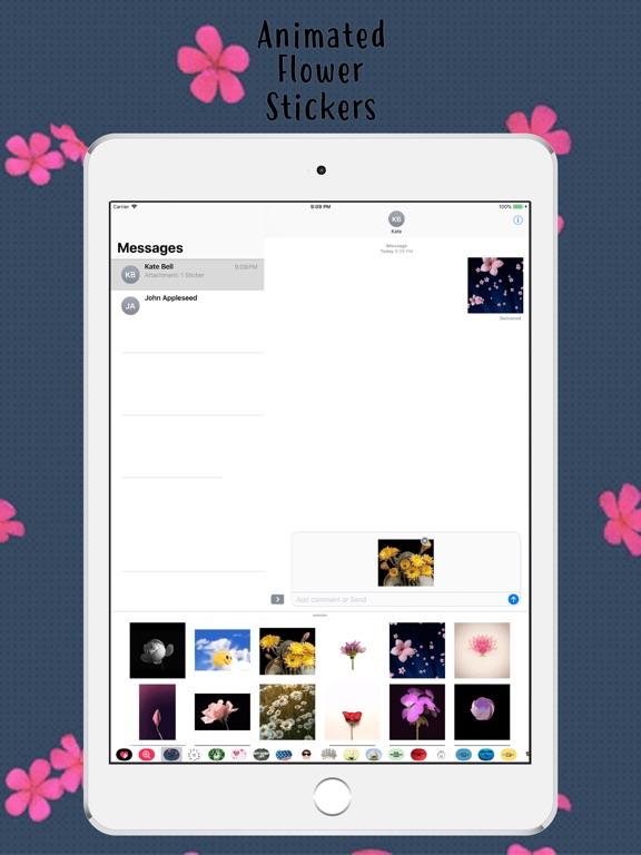 Animated Flower Pack Stickers screenshot #2