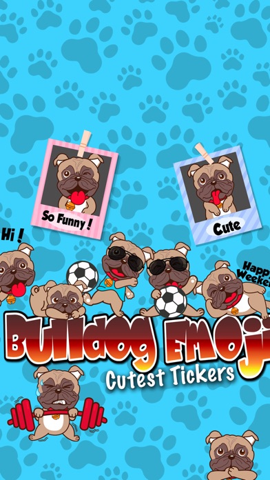 Screenshot for Bulldog Emoji Cutest Stickers in Venezuela App Store
