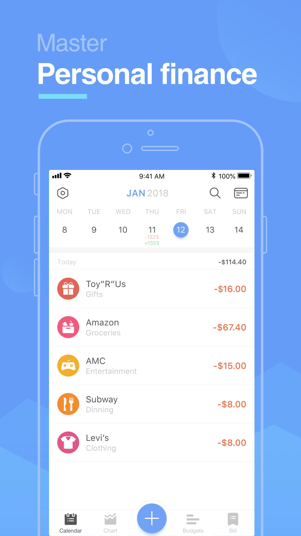 Pocket Expense Lite Screenshot
