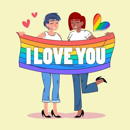 LGBT Lesbian Stickers