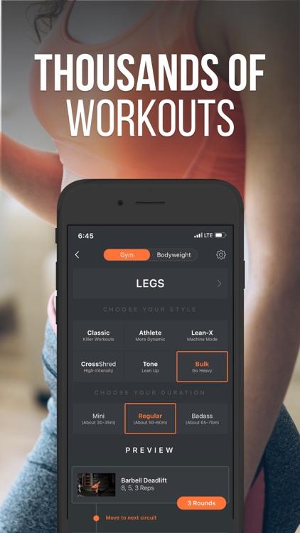 SHRED: Home & Gym Workout screenshot-6