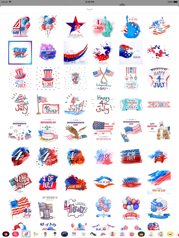 4th of July - Watercolor Pack screenshot 8