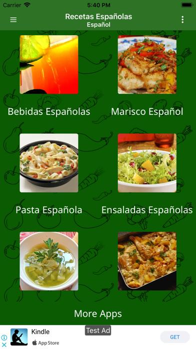 Recetas Espanolas screenshot two