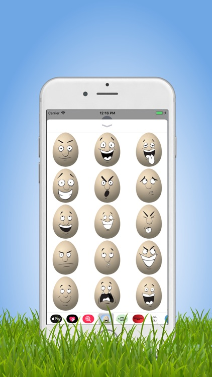 Cute Egg Emojis Stickers