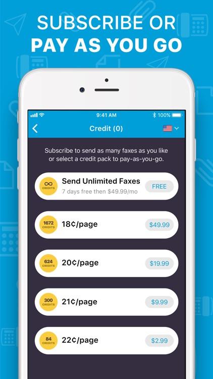 iFax: Fax app, fax from iPhone screenshot-6