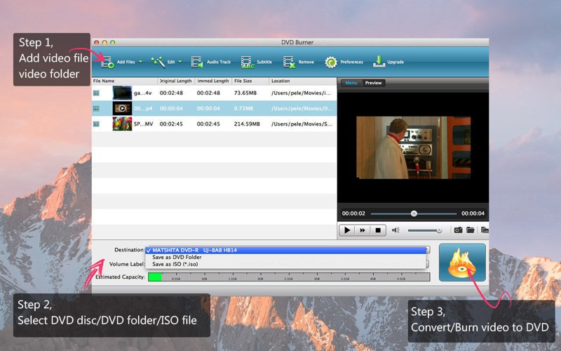 Screenshot #1 for DVD Burner - Create DVD