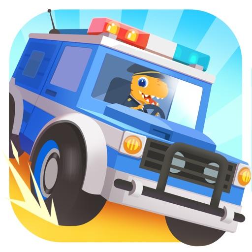 恐龙警车 - 赛车儿童游戏