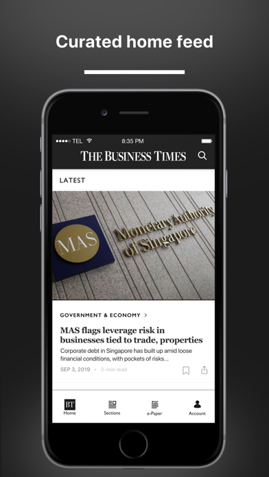 The Business Times Screenshot