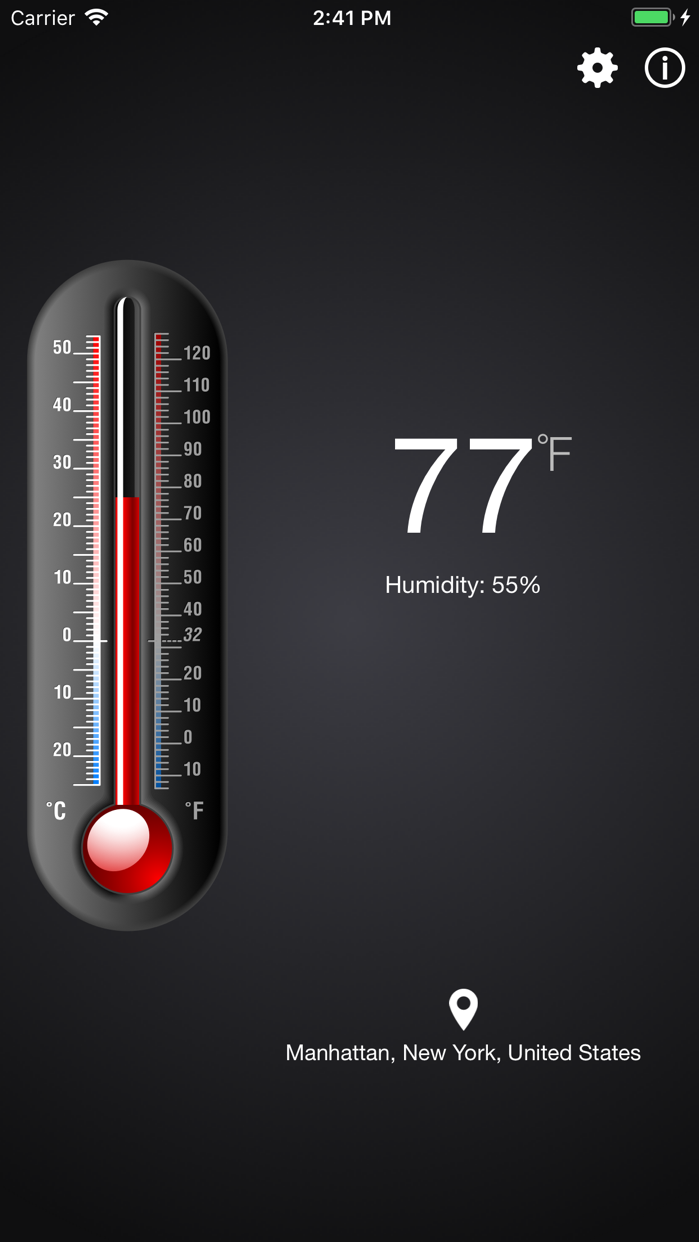 Thermometer++. Screenshot