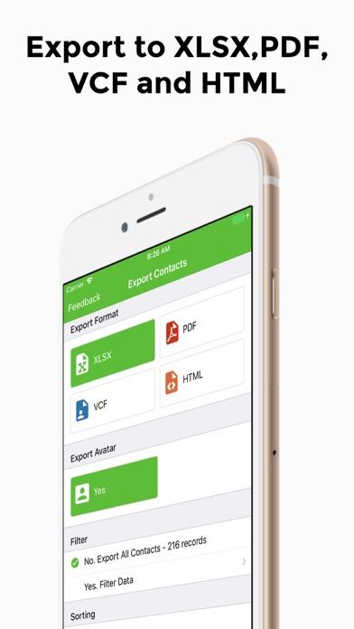 連絡先のエクスポート - 簡単なバックアップ ScreenShot0