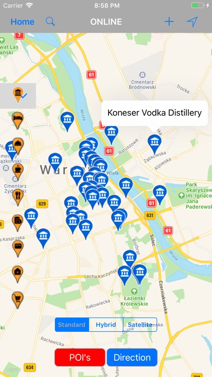 Warsaw (Poland) – Travel Map by Shine George
