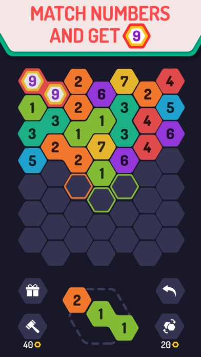 UP 9 - Hexa Puzzle! screenshot 1