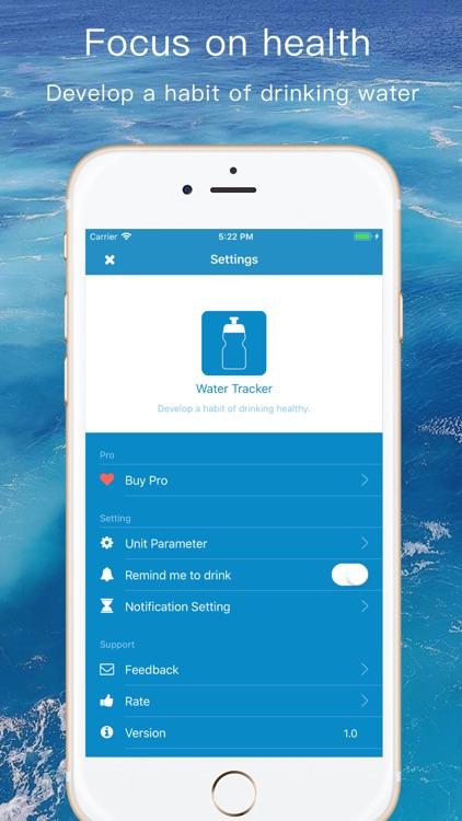 Water Tracker - health remind screenshot-3