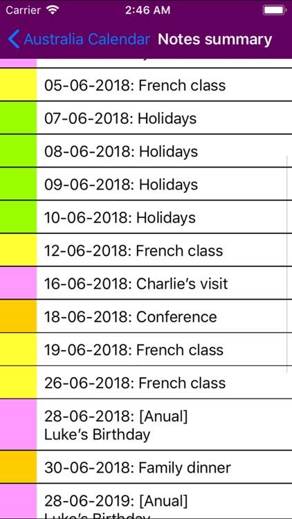 2019 Australia Calendar screenshot-4