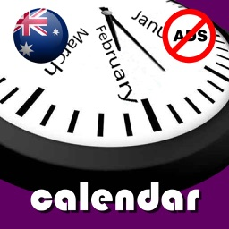 2019 Australia Calendar NoAds