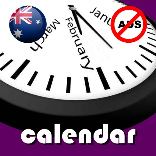 2019 Australia Calendar NoAds by Rhappsody Technologies