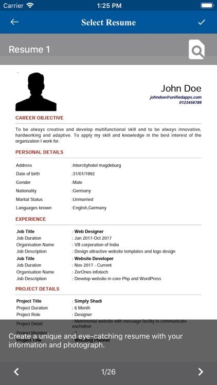 Resume Builder - CV makers screenshot-3