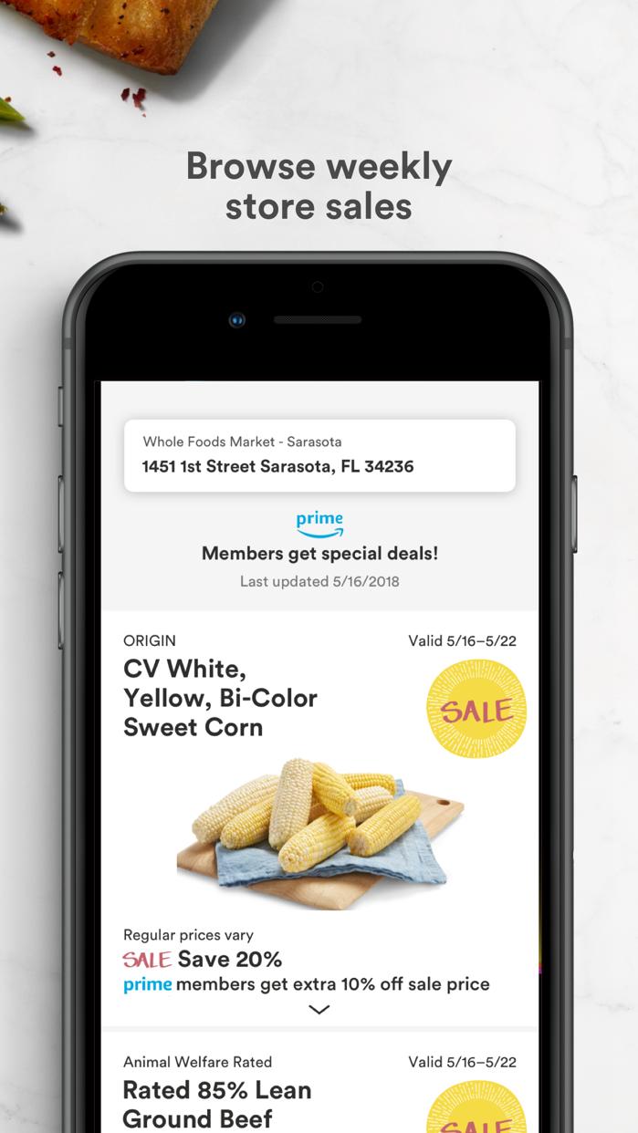 Whole Foods Market Screenshot