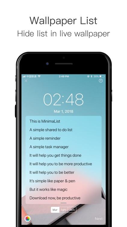 MinimaList- To Do List &Widget screenshot-8