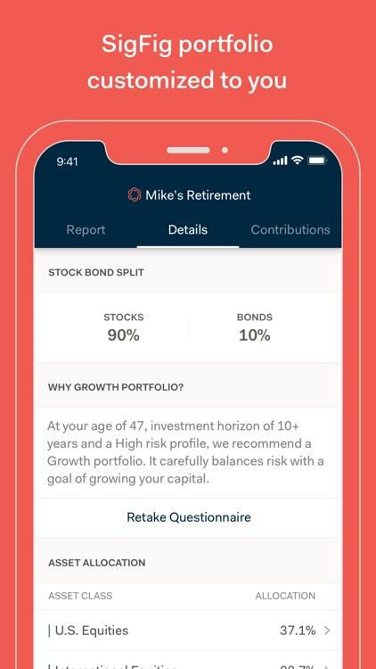 SigFig Wealth Management screenshot-3