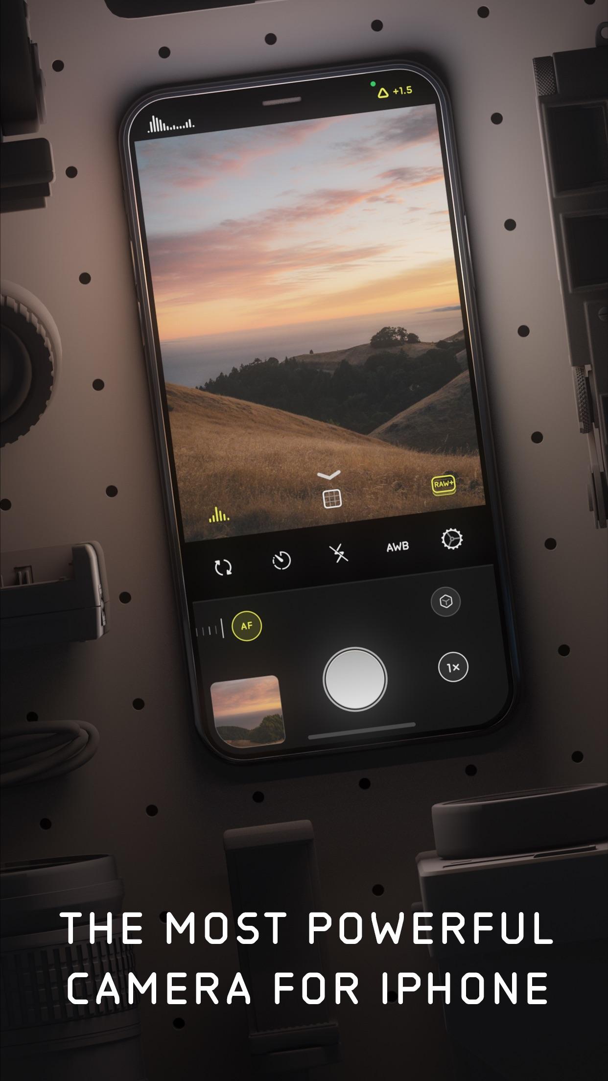 Screenshot do app Halide Mark II - Pro Camera
