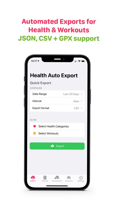 Health Auto Export - JSON+CSVのおすすめ画像1