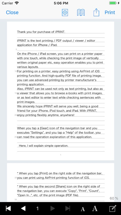 iPRINT - Text Printing screenshot-0