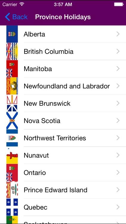 2019 Canada Calendar