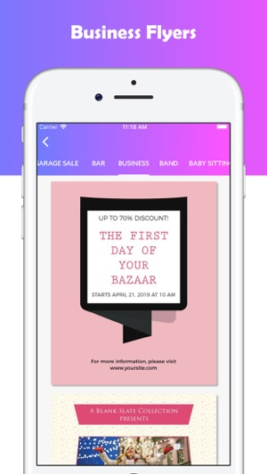 create flyers using templates on the app store