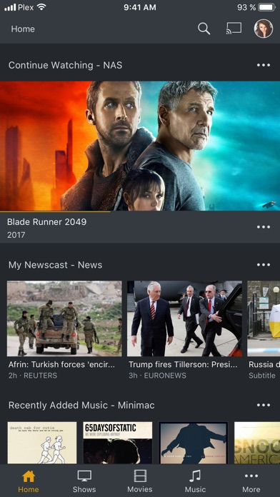 Plex review screenshots