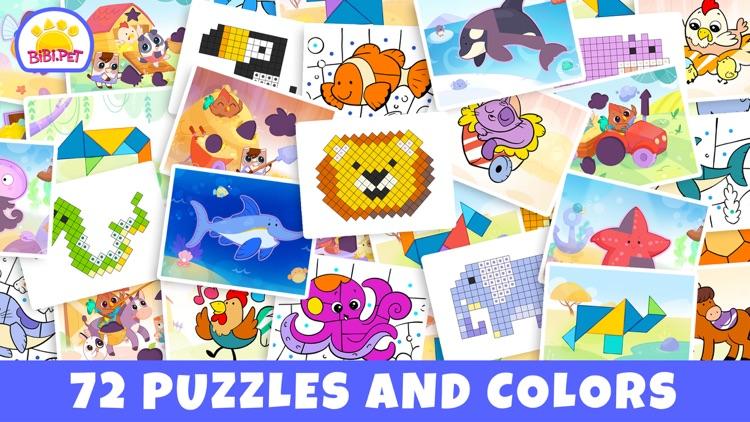 Pixel & Tangram games for baby screenshot-6