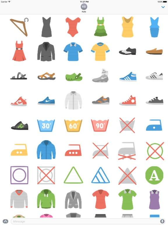 Clothes And Shoes Icon Sticker screenshot 10