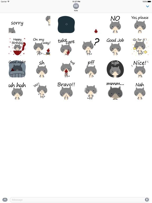 Animated Sentiment Cat Sticker screenshot 3
