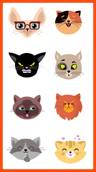 Adorable Cat SMS Stickers Pack screenshot three