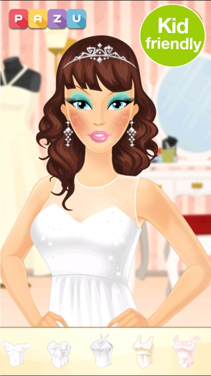 Makeup Girls Wedding Dress up