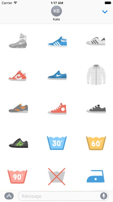 Clothes And Shoes Icon Sticker screenshot 7