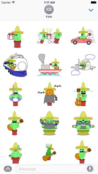 Mexico Cactus Music Band Emoji Screenshot