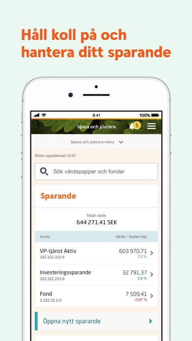 Screenshot for Swedbank privat in Sweden App Store