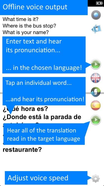 Offline Translator Spanish screenshot-3